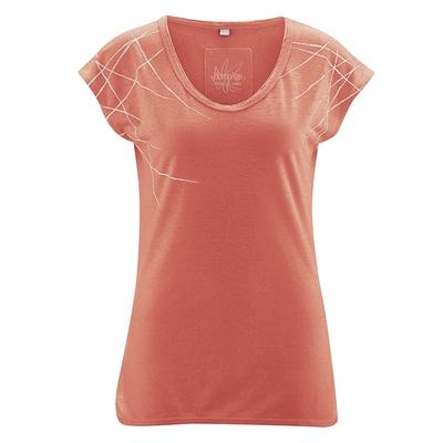 t-shirt femme décolleté coton bio dh852_orange_homard