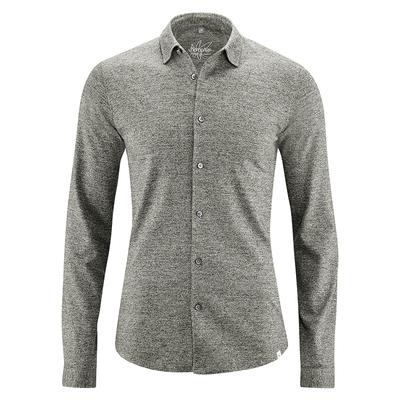 chemise coton biologique dh038_gris_chiné