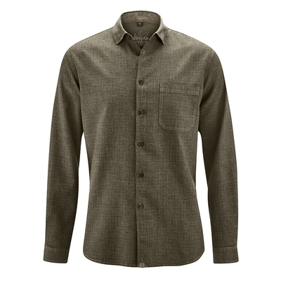chemise bio équitable dh039_marron_tabac