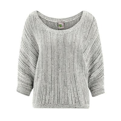 pull femme coton bio chanvre LZ365_gris_chiné