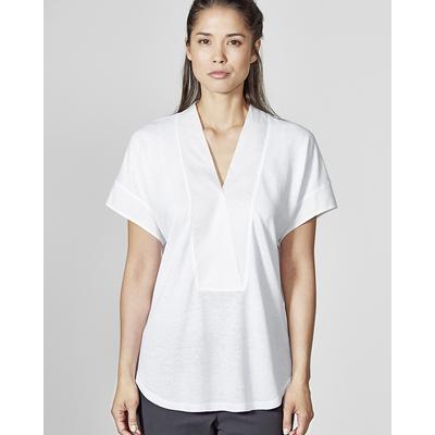 blouse chanvre commerce équitable  DH873_blanc