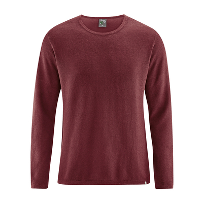 pullover homme chanvre  LZ368_chestnut