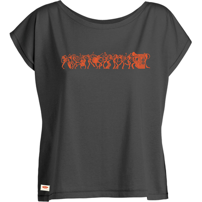 T-shirt ample OVIVO Music is life-gris persan-woman