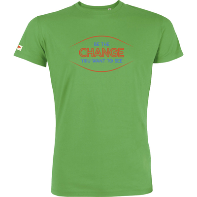T-shirt OVIVO Be the change-vert bambou-man