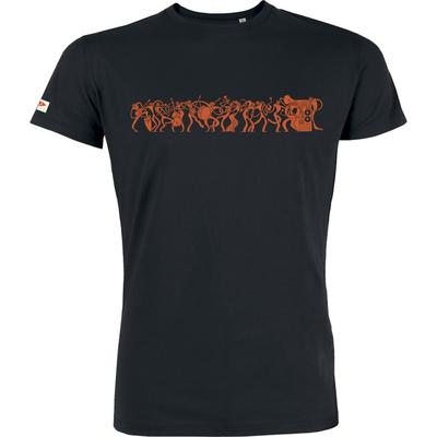 T-shirt OVIVO Music is life-noir-man