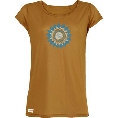 T-shirt Tencel OVIVO Fleur Mandala-ocre
