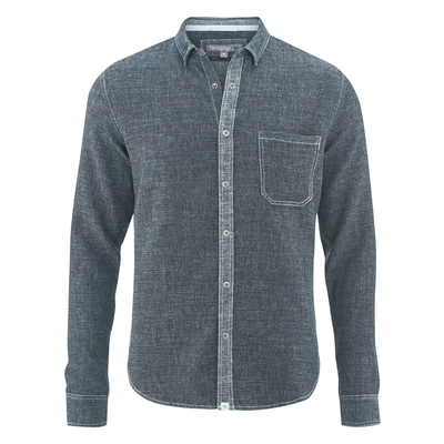 chemise jeans bio DH043 indigo