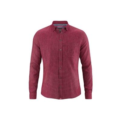 chemise bio homme DH030_rouge_sangria