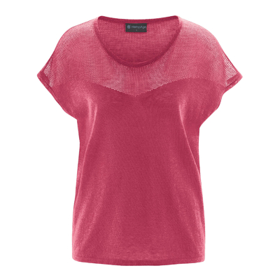 t-shirt femme coton bio LZ381_sangria