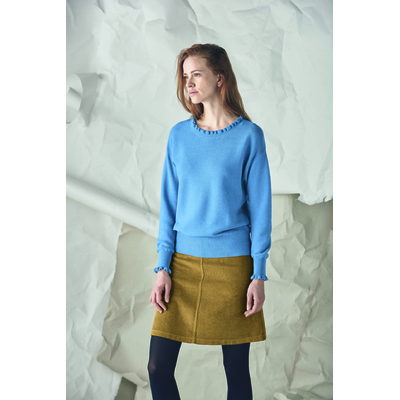 pull col volant equitable femme LZ312