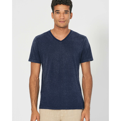 t-shirt chanvre homme DH842_navy