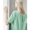 blouse en chanvre dh150_details_jade