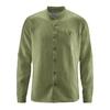chemise bio équitable col mao dh026_vert_laurier