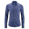 chemise homme manches longues coton bio dh038_bleuet