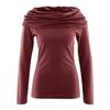 t-shirt col drapé coton bio dh868_marron_chataigne