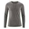 t-shirt col boutonné chanvre coton biologique dh239_gris asphalte