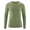 t-shirt col mao manches longues chanvre dh239_vert_feuille