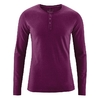 t-shirt col mao manches longues coton bio dh239_violet_bourgogne