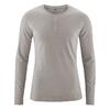 t-shirt col mao manches longues coton biologique dh239_marron_mud
