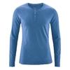 t-shirt col mao manches longues bio équitable dh239_bleu mer