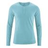 t-shirt col mao manches longues équitable dh239_bleu_turquoise