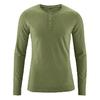 t-shirt col mao manches longues éthique dh239_vert_laurier