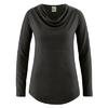 t-shirt col drapé femme dh250_noir