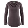 t-shirt col drapé femme chanvre dh250_mocca
