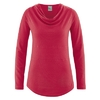 t-shirt femme col drapé coton biologique dh250_rouge_piment