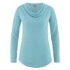 t-shirt femme col drapé écolo dh250_bleu_turquoise