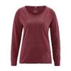 t-shirt manches longues femme bio équitable DH856 marron chataigne