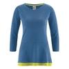 t-shirt long coton bio DH290_bleu_mer