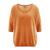 pull été coton biologique LZ372_orange_carotte
