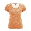 t-shirt bio équitable imprimé femme DH871_orange_carotte