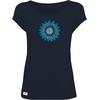 T-shirt Modal OVIVO Fleur Mandala-bleu nuit