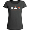 T-shirt Slub OVIVO Faune Bien etre Flore-gris persan-woman