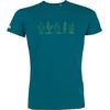 T-shirt OVIVO Cactus-bleu lagon-man