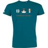 T-shirt OVIVO Faune Bien Etre Flore-bleu lagon-man