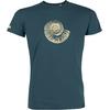 T-shirt OVIVO Fossile beige-vert ardoise-man