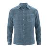 chemise bio DH022_bleu baleine