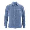 chemise chanvre DH022_bleu-baie