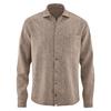 chemise bio éthique DH044_marron_chocolat_chiné