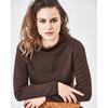 pull laine chanvre femme LZ375_marron_chocolat