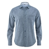 chemise chanvre coton bio DH023_bleu_rayures_fines_croisées