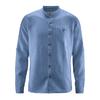 chemise bio col mao DH026_bleu_baie