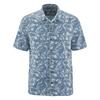 chemise manches courtes coton bio DH048_bleu_baie