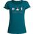 T-shirt Slub OVIVO Faune Bien-etre Flore-bleu lagon-woman