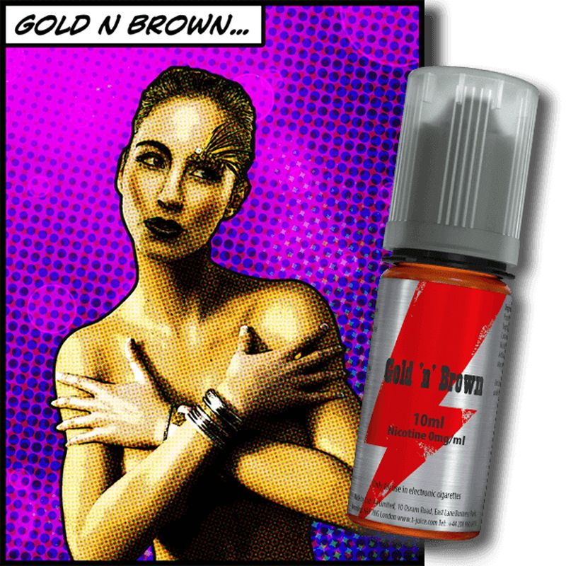 E-LIQUIDE GOLD N BROWN 10ML PAR T-JUICE