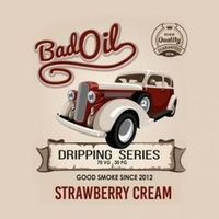 E-LIQUIDE STRAWBERRY CREAM PAR BADOIL