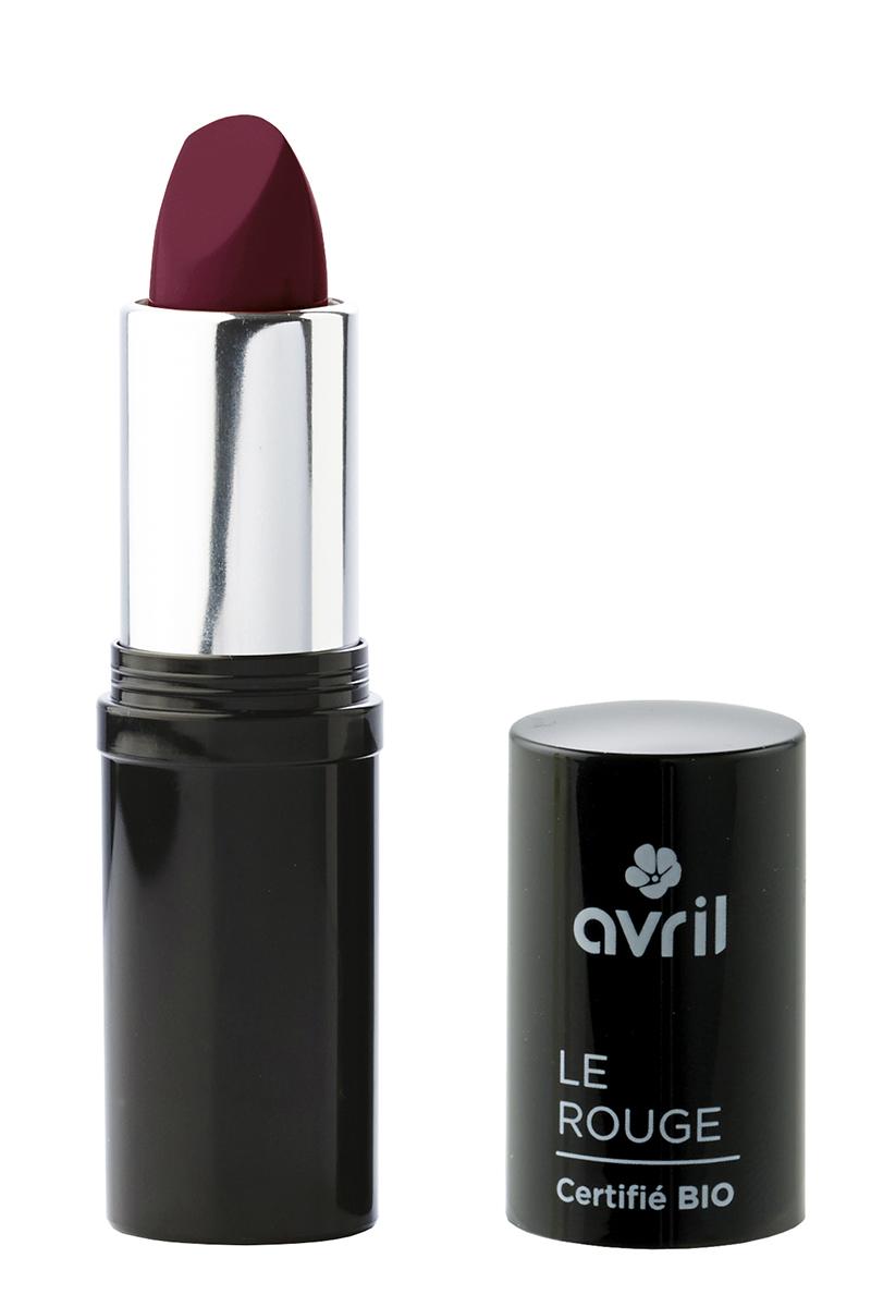 Rouge à lèvres aubergine nacré